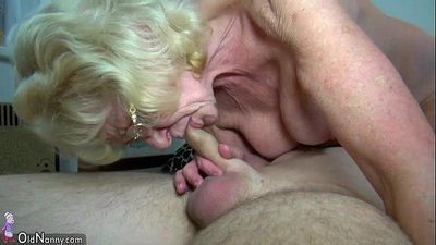 OldNanny Skinny old grannies and young pretty girls is masturbating - 8 min HD
