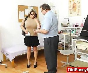 Huge natural melon size breasts at obgyn gynecologist - 6 min