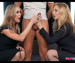 Two perfect Blonde Cougars team up