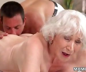 Old mom Norma enjoys sex after massage 6 min HD