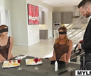 Stepmom Aubrey and stepdaugter Ana got their cunts a cock that will pleasure them 7 min 720p