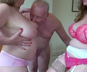 AgedLove Lily and Trisha in hard threesome with boyfriend 8 min 1080p