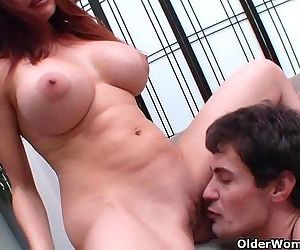 Hot milf Sheila Marie gets cumshot on her big titsHD