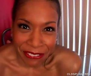 Mature black babe has big tits - 5 min