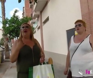 The Spanish Mommies also want to do porn. BBW Blonde Mature Threesome 46 min 720p