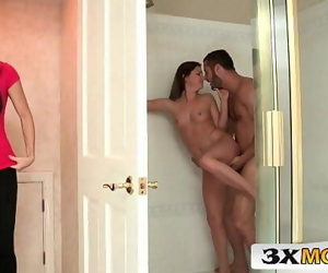 Mom vs TeenSharing Big Cock in the BathroomIndia Summer, Hope Howell 6 min 720p