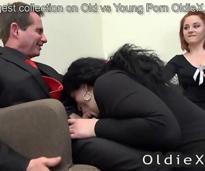 senior house owner enjoy old and young threesome 7 min 720p