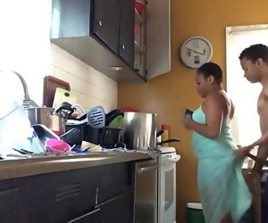 Fucking My homeboys baby mama in the kitchen 4 min 720p