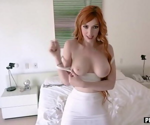 Dad left but my redhead MILF stepmom is horny for cock 6 min 720p