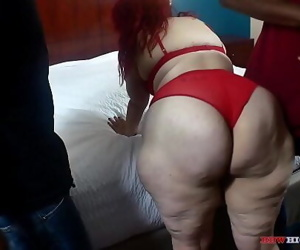 Redhead Ghetto Hillbilly sucking two big black cocks at the same time on BBWHighway 63 sec 1080p