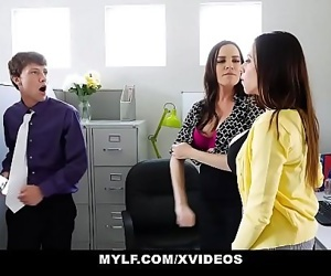 MYLFEmployee Blackmails and Fucks MYLF Executives 10 min 720p