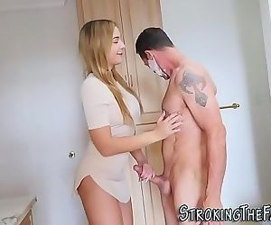 Teen takes stepdads cum 8 min