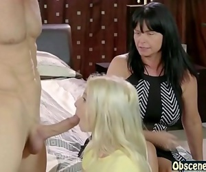 Mom watches dad & daughter having sex 6 min HD
