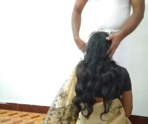 Desi Wife change Saree Cuckold husband recording Sucking Friend Cock
