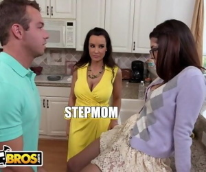 BANGBROS - Lucky Step Son Bangs His GF Ava Taylor & Stepmom Lisa Ann