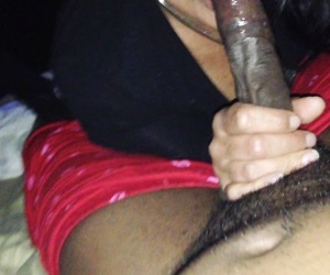 cougar patiently enjoys big long thick black meat
