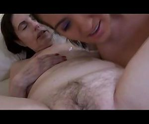 Granny is enjoying a dildo playing with younger woman - 5 min