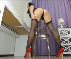 Caroline - Big Ass and Long Legs Teasing on Stockings