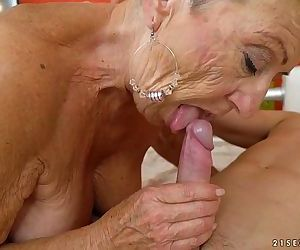 Old granny fucks the young mechanicLusty GrandmasHD