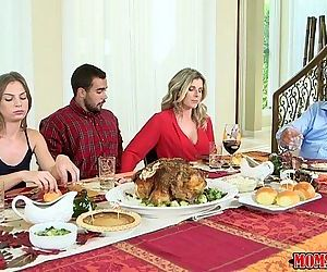 Moms Bang TeenNaughty Family ThanksgivingHD
