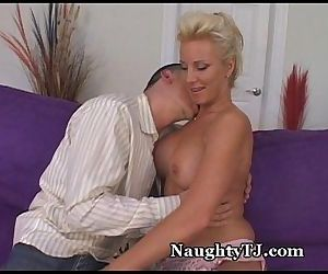 Mature Cougar Seduces Young Cub - 5 min