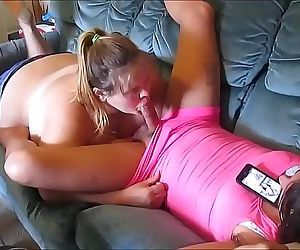 cheatting wife sucks young & hot sissy girl huge dick & swallow a mouth full of girl cum 10 min HD