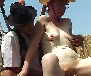german hairy granny outdoor fucked with huge turnip 12 min 720p
