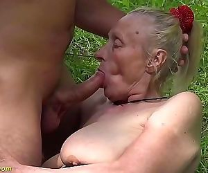 chubby 85 years old granny first time outdoor sex 12 min