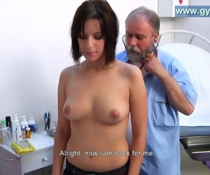 Lauras full body gyno examination by old gynecologist