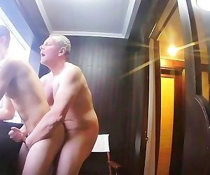 Older Daddy Bareback Fucking His Young Boy on a Boat