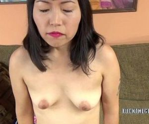 Asian slut Yuka Ozaki is on her knees and sucking dick - 6 min HD
